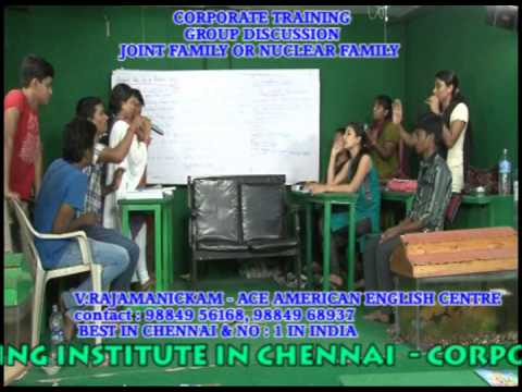 BEST GROUP DISCUSSION  TRAINING  INSTITUTION IN CHENNAI -JOINT FAMILY