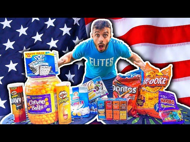 MANGIO TUTTI GLI SNACK AMERICANI!!! w/Elites