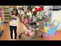Kids Pretend play Shopping for healthy food and Toys! funny video