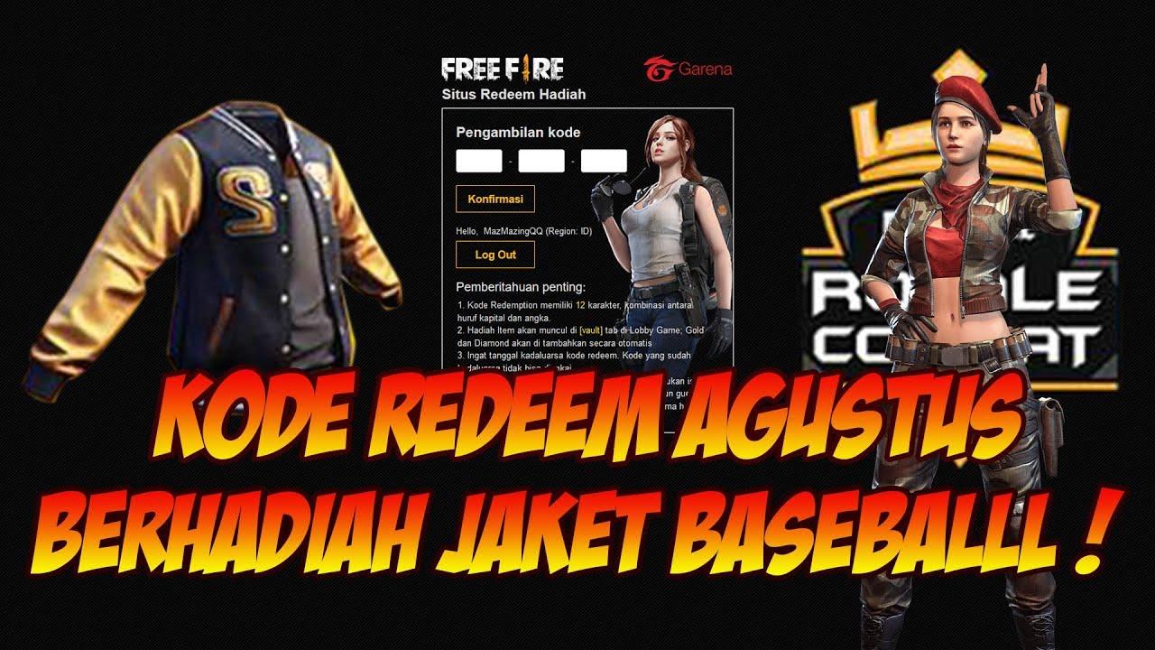 NEW REDEEM CODE FOR FREE FIRE BATLEGROUNDS : AUGUST 18