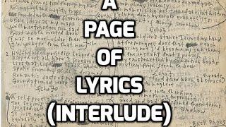 Carnivore - A Page of Lyrics (interlude)