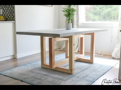 Concrete And Wood Dining Table Youtube