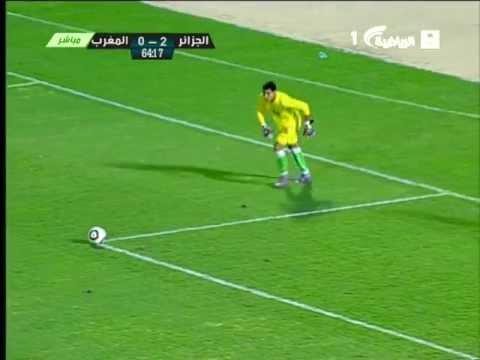la meilleur action de rezki hamroune contre maroc coup d'arab  u 16ans