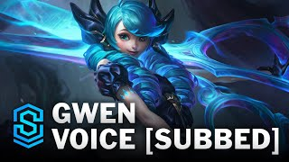 Voice - Gwen, the Hallowed Seamstress [SUBBED] - English