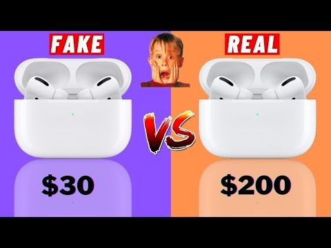 FAKE VS REAL Apple AirPods Pro | How to Check if Airpods Pro is Real or fake?