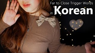 ASMR Far to Close 'Korean' Trigger Words with Moving Around You⭐