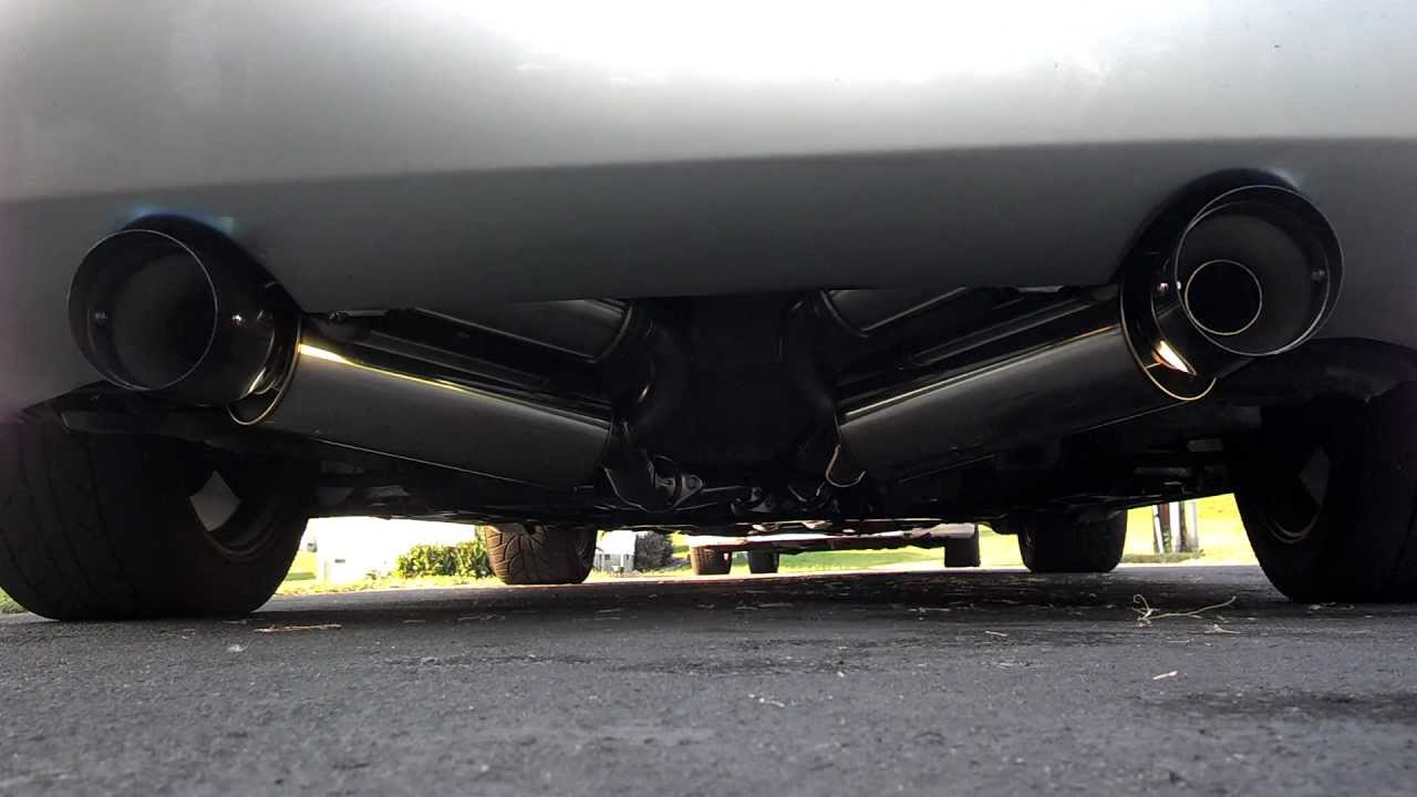 nissan 350z track model with genuine hks hipower exhaust front to back