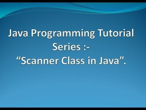 How to use Scanner Class API in Java