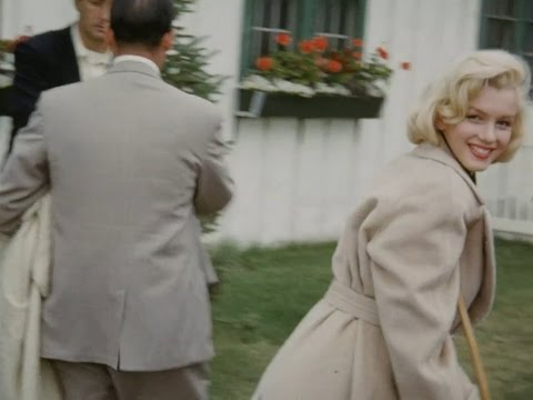 2 Very Rare Colour Home Movies Of Marilyn Monroe - On Crutches 1953  And Coming Home From Court 1956