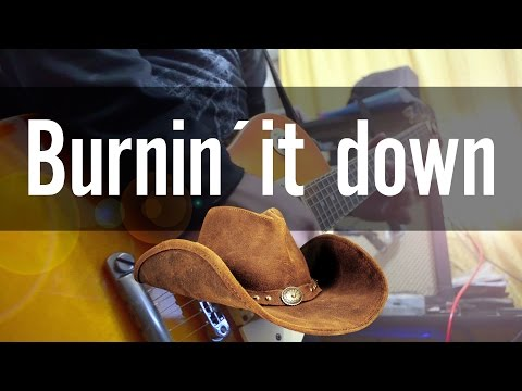 Jason Aldean - Burnin' It Down | electric guitar cover (instrumental & backing track)