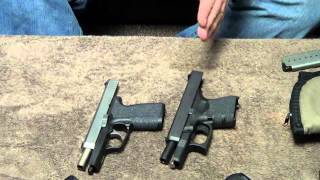 glock 26 vs kahr cw9 size feature comparison