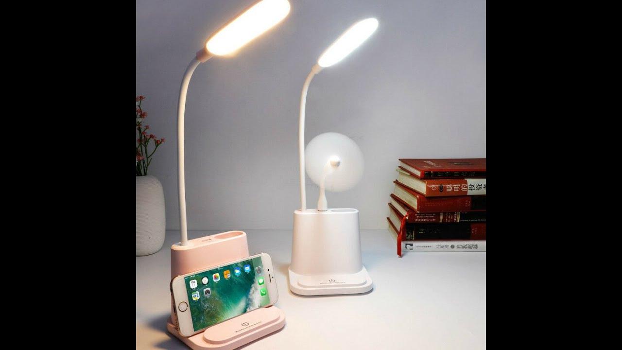 Đèn led để bàn sạc USB Cảm Ứng 4 in 1 multifunction desk lamp