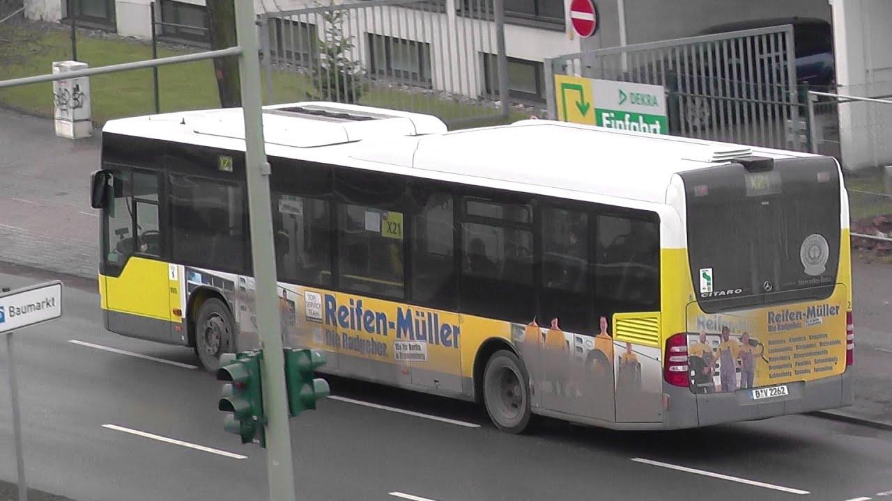Bvg Bus X21 Bv2262 Citaro Mercedes Benz Am Kurt Schumacher Damm