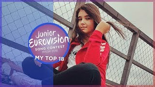 Junior Eurovision 2018 | My Top 18 [so far] 🇲🇰 🇵🇹