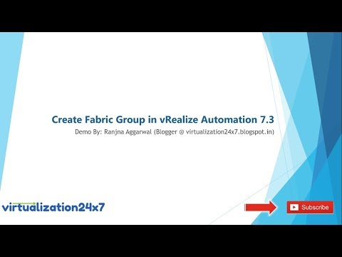 Create Fabric Group in vRealize Automation 7.3