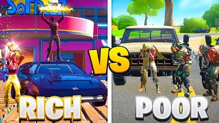 *CARS EDITION* RICH vs POOR Fortnite FASHION SHOW...
