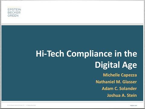 Hi-Tech Legal Compliance in the Digital Age