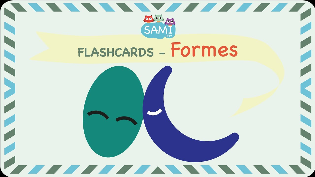 Shapes Flashcards In French By Sami Apps Flipped Classroom Youtube