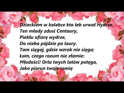 Poezja Adam Mickiewicz Oda Do Młodości Youtube