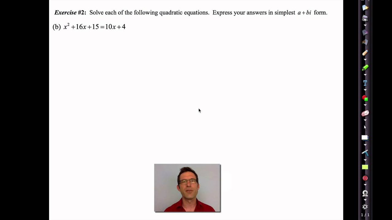 Common Core Algebra Ii Unit 9 Lesson 3lving Quadratics With Complex Solutions