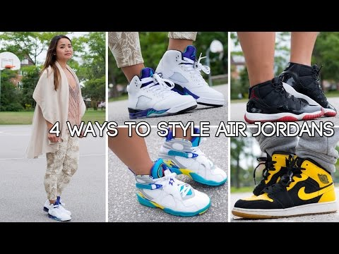 4 ways to style Air Jordan's for Women