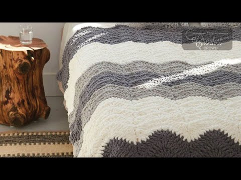 How to Crochet A Blanket: Grey Scale Blanket