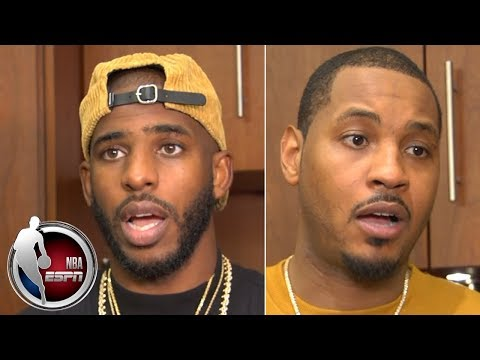 'I'll be damned if we panic'- Carmelo Anthony on Rockets' 1-4 record | NBA on ESPN