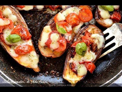 Barchette Di Melanzane In Padella Stewed Aubergine Italian Style Youtube