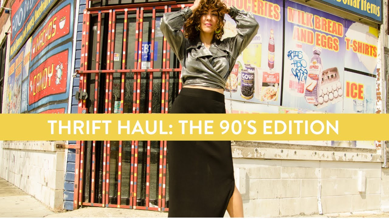 [VIDEO] - THRIFT / VINTAGE HAUL // Cute 90's Outfits for Summer 6