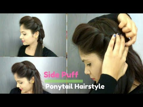 How to Side Puff With Trick And Ponytail Hairstyle