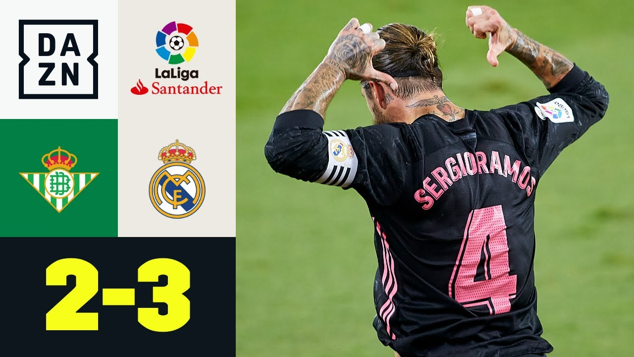 Sergio Ramos regala la vittoria ai Blancos: Real Betis-Real Madrid: 2-3 | LaLiga | DAZN Highlights