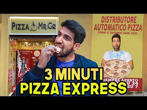 IL PRIMO DISTRIBUTORE DI PIZZA A ROMA - PIZZA ESPRESSA IN 3 MINUTI