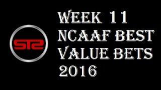 College Football Week 11 Predictions - Picks Against The Spread - NCAAF Week 11 Picks 2016 Las Vegas