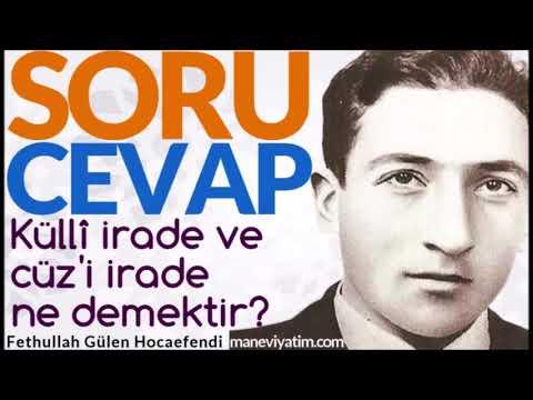 Küllî irade ve cüz'i irade ne demektir? | Fethullah Gülen Hocaefendi