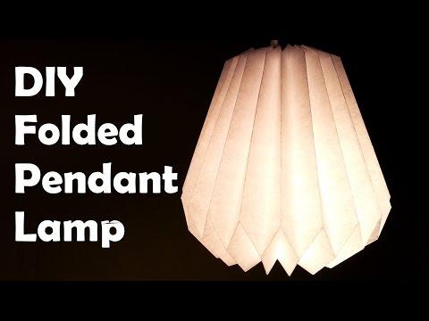 DIY Make a Folded Paper Pendant Lamp Shade