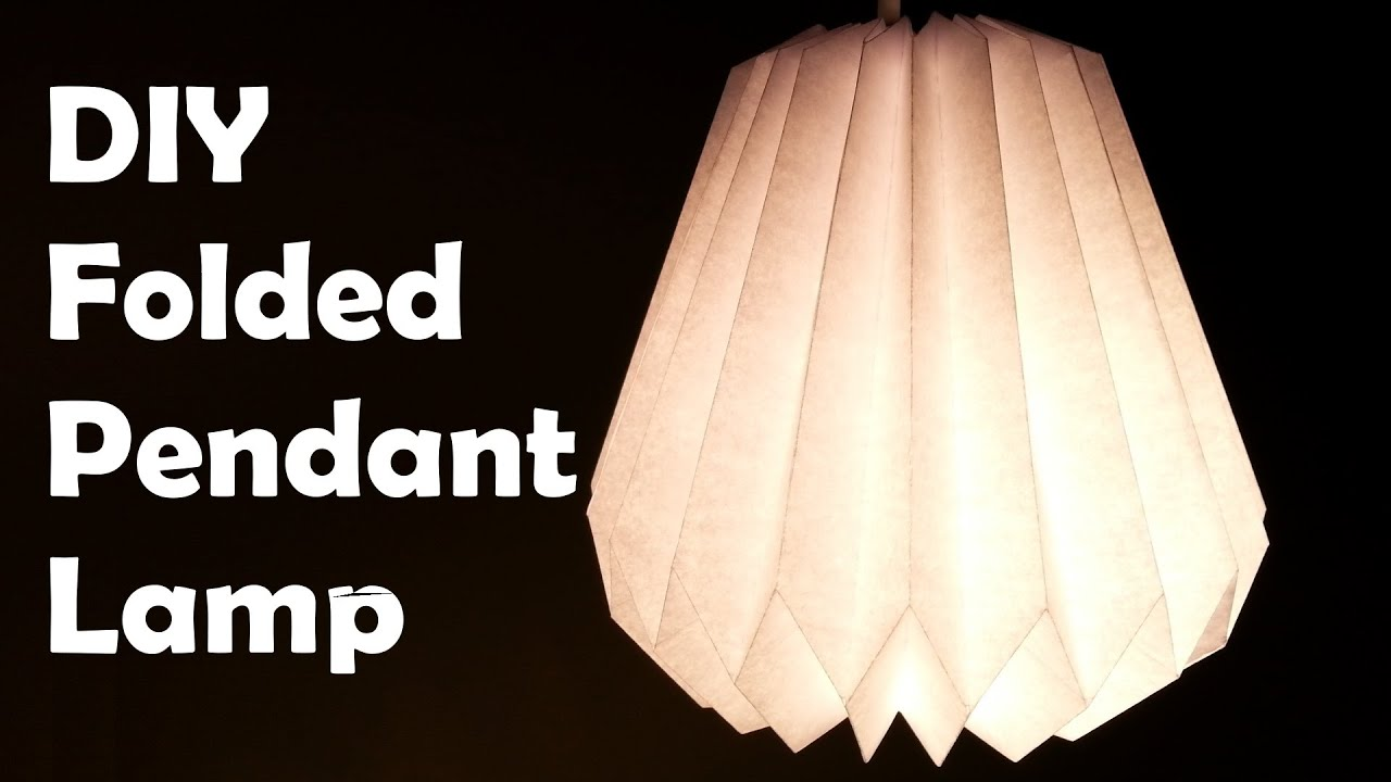 DIY Make a Folded Paper Pendant Lamp Shade - YouTube