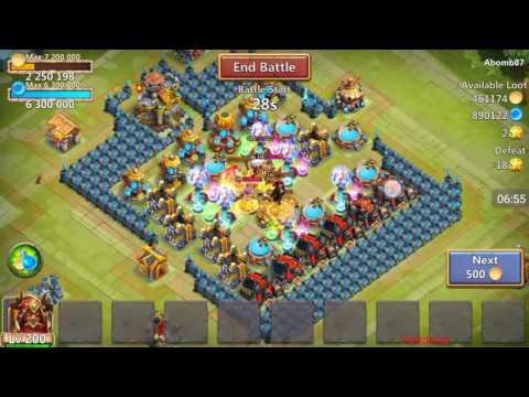 Castle Clash - Grimfiend! Double Evo, 200, 10/10 Review. Unbelievable Damage!!!