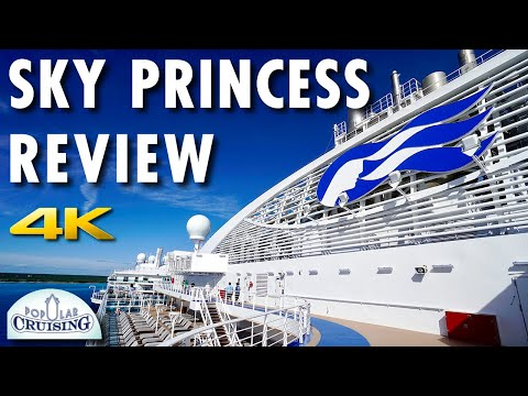 Sky Princess Tour & Sky Princess Review ~ Princess Cruises [4K Ultra HD]