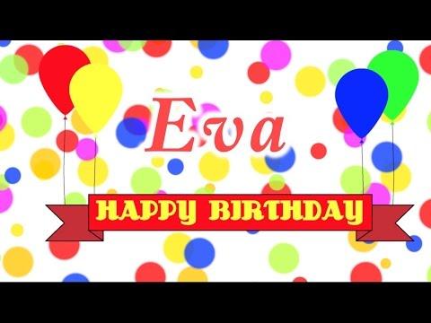 Happy Birthday Eva Song