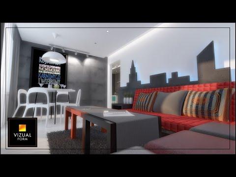 Projekty salonu mieszkania w bloku osiedlowym wspaniałe pomysły - YouTube