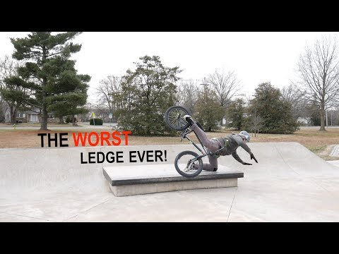 THIS IS THE ** WORST ** LEDGE EVER BUILT AT A SKATEPARK!
