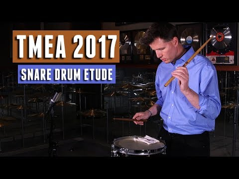 TMEA 2017 Percussion All-State Music: Snare Drum Etude