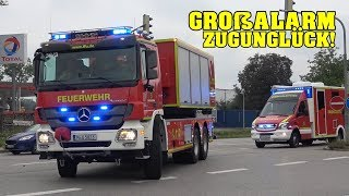 [DISASTER PROTECTION DRILL] German Fire Trucks, EMS & Police responding in Munich County | 30 Min.