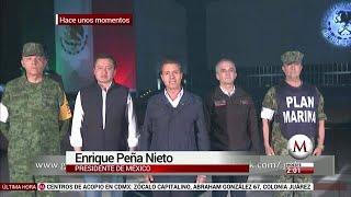 Mensaje a medios del Presidente Peña Nieto tras el sismo de 7.1