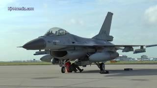 F-16's landing Amsterdam Schiphol [video] Dutch F16 Falcon fighter Jet