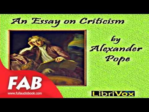 Alexander Pope An Essay on Criticism