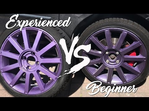 How NOT to Paint Wheels VS How To PROPERLY Paint Wheels