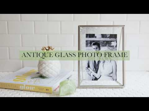 Antique Glass Photo Frame