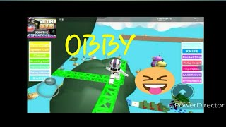 Roblox obby game play with BRE surprise at the end of video