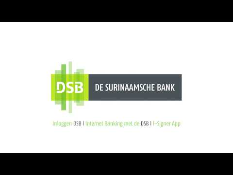Inloggen DSB I Internet Banking met de DSB I I-Signer App